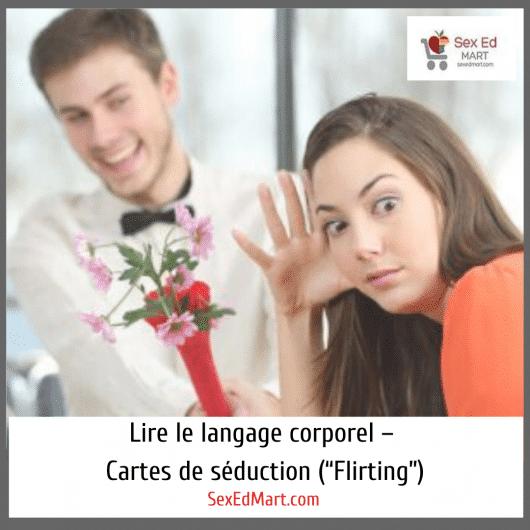 """Lire le langage corporel – Cartes de séduction (""""Flirting"""")"""