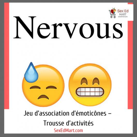 Jeu d'association d'émoticônes – Trousse d'activités