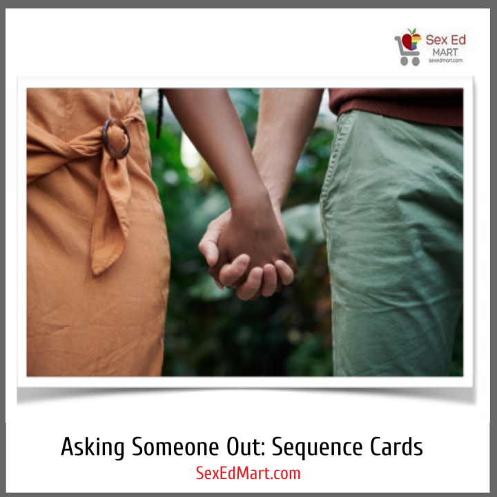 asking someone out Real People Sequence cards